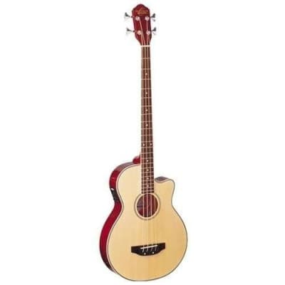 Oscar Schmidt OB100N Acoustic Electric Bass with Gig Bag in a NATURAL Finish for sale