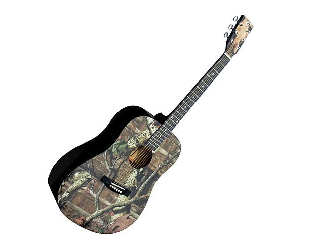 Mossy Oak Full Sized Acoustic Guitar With Oak Infinity Camo Reverb