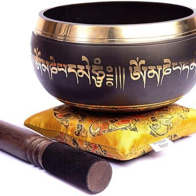 "4"" Tibetan Singing Bowl Set Authentic Handmade For Meditation Sound Chakra Healing 4 Inch"