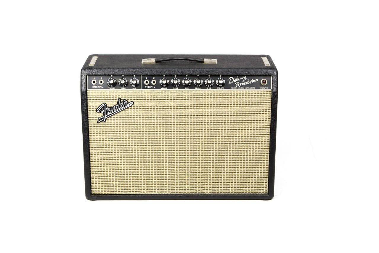 Fender Deluxe Reverb Ab763 Blackface 1966 All Original