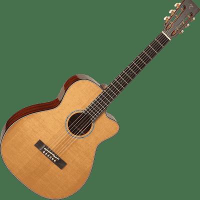 Takamine EF740FS TT Thermal Top Series OM Cutaway Acoustic/Electric Guitar 2019 Natural Gloss