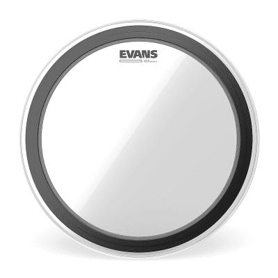 "Evans BD18EMADHW EMAD Heavyweight Clear Bass Drum Head - 18"""