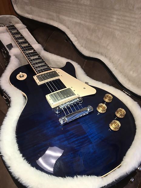 Gibson 2013 Les Paul Traditional Cool Blue Flame W Custom Bucker Pickups