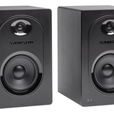 "Pair Samson M50 5"" Powered Studio/Computer/Podcast Reference Monitors Speakers"