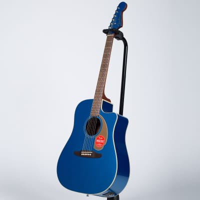 Fender Redondo Player Acoustic-Electric Guitar - Walnut, Belmont Blue for sale