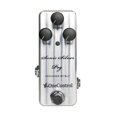One Control Sonic Silver Peg Bass Preamp for sale