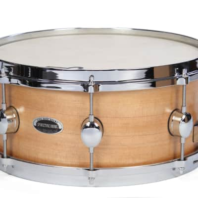 "Sprucetone 6""x14"" Spruce Snare Drum 2020 Natural Spruce by Side Kick Drums"