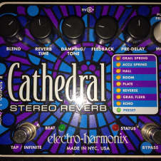 EHX Cathedral Stereo Reverb.