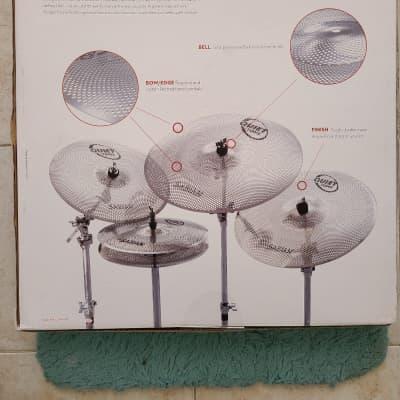 "Sabian QTPC502 Quiet Tone Low Volume 13 / 14 / 18"" Cymbal Pack"
