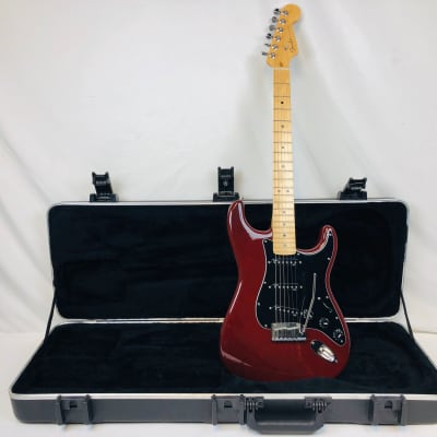 Fender Stratocaster American Deluxe Ash  2012 Wine Transparent for sale