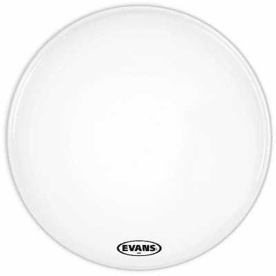 "Evans BD18MX2W MX2 White Marching Bass Drum Head - 18"""