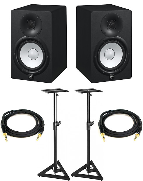 yamaha hs7 powered studio monitor pair w stands reverb. Black Bedroom Furniture Sets. Home Design Ideas