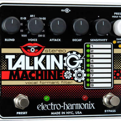 Electro-Harmonix EHX Stereo Talking Machine Vocal Formant Filter Guitar Effects Pedal