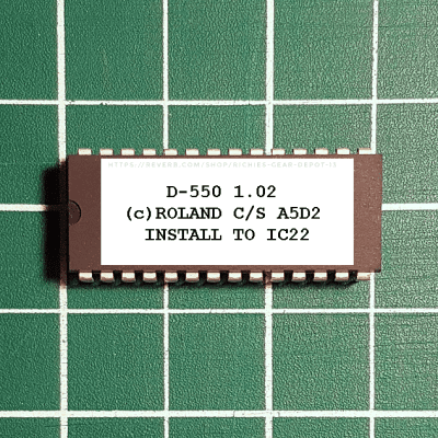 Roland D-550 OS v1.02 EPROM Firmware Upgrade KIT / New ROM Final Upgrade Chip D550