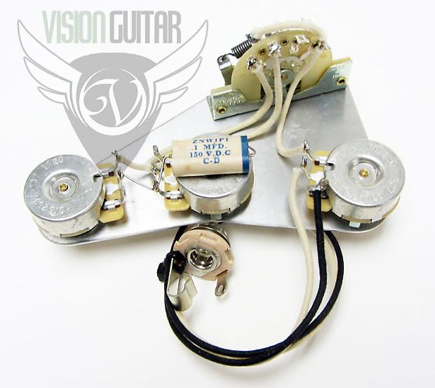 Late 50s PREWIRED Strat Upgrade Wiring Kit Matched – Jazzmaster Wiring Diagram 50 S
