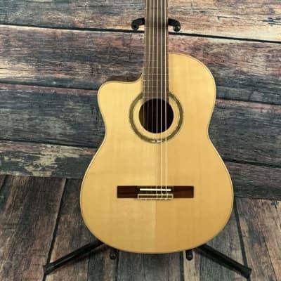Ortega Left Handed RCE138-L Slim Neck Acoustic Electric Cutaway Classical Guitar for sale