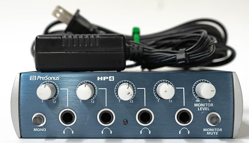 PreSonus HP4 4 Channel Headphone Monitor Amplifier with