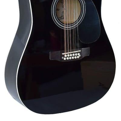 NEW MADERA 12 STRING BLACK COLOR FULL SIZE ACOUSTIC GUITAR- SP411-12 BK for sale