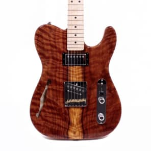 G&L Custom ASAT Classic Bluesboy Semi Hollow Flame Redwood Electric Guitar w/ Case for sale