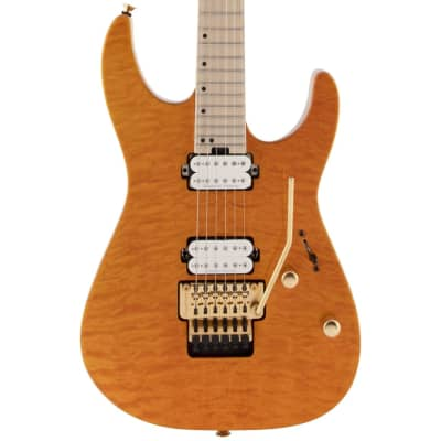 Charvel Pro-Mod DK24 HH FR M Mahogany with Quilt Maple - Dark Amber for sale