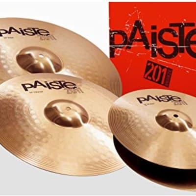 "Paiste 201 Bronze Universal Set 14"" / 16"" / 20"" Cymbal Pack"