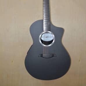 Composite Acoustics OX RAW ELE Acoustic-Electric Guitar Black Carbon Fiber
