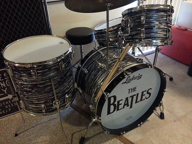 c9cac76a471b Ludwig Classic Maple Fab 4 Shell Pack 1997 Black Oyster Pearl