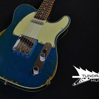 Fender Custom Shop '60 Telecaster Custom Relic – Aged Blue Sparkle 753 for sale