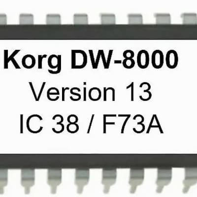 Korg  DW-8000  OS 13 Final EPROM Firmware Upgrade Kit for DW8000