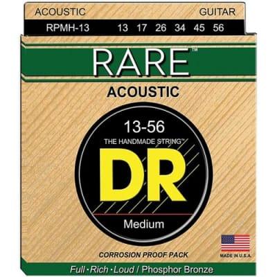 DR RPL-10 Rare Phosphor Bronze Lite Acoustic Guitar Strings, .010 - .048