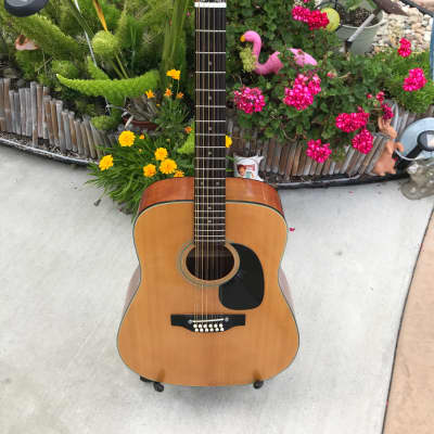 Vintage Rare Trump T17  Matsomuko Made Jumbo Dreadnaught 12 String  Acoustic MIJ for sale