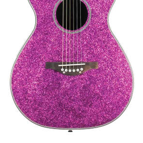 Daisy Rock DR6225 Pixie Acoustic/Electric, Pink Sparkle, Free Shipping, B-Stock for sale