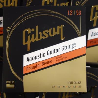 Gibson SAG-PB12-1 Acoustic Guitar Strings 12-53 Phosphor Bronze ( 10 sets)