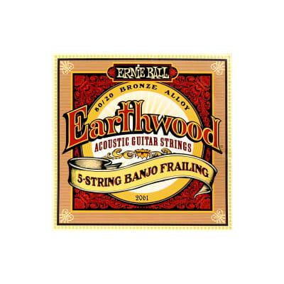 Ernie Ball 2061 Earthwood 5 String Banjo Frailing Bronze