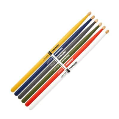 Promark Painted Drum Sticks - TX5BW-GRAY