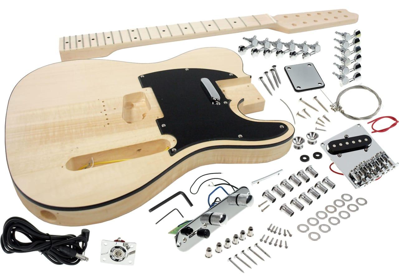 solo 12 string tele style diy guitar kit basswood body hard reverb. Black Bedroom Furniture Sets. Home Design Ideas
