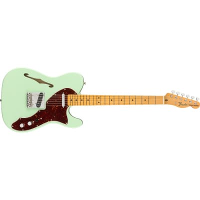 Fender American Original '60s Telecaster Thinline Maple Fingerboard, Surf Green for sale