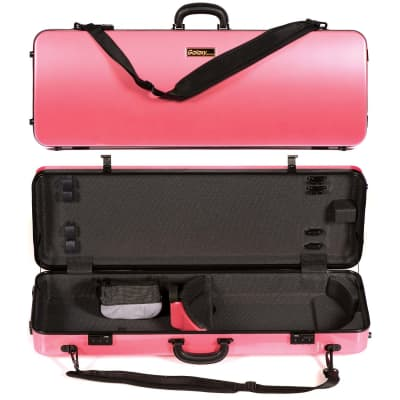 Galaxy Audio Galaxy Zenith 400SL Oblong Adjustable Pink Viola Case with Gray interior for sale