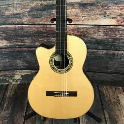 Kremona Left Handed F65CW-SB Fiesta Cutaway Classical Acoustic Electric Guitar for sale
