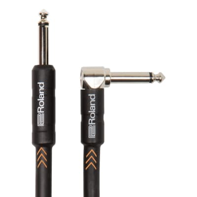 Roland Black Series Instrument Cable, Angled/Straight - 15FT / RIC-B15A