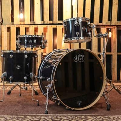 DW Performance Ebony Stain Drum Set - 14x24,12,16,5.5x14
