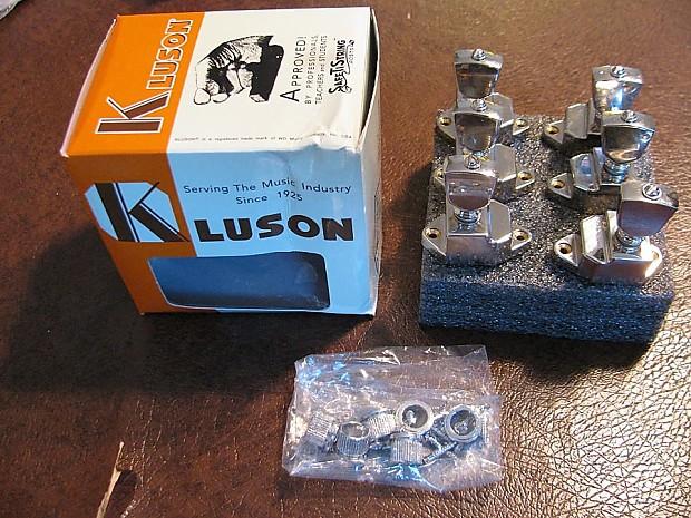 Kluson Firebird 6 In Line Treble Set Of Banjo Tuners with Metal Keystone Buttons