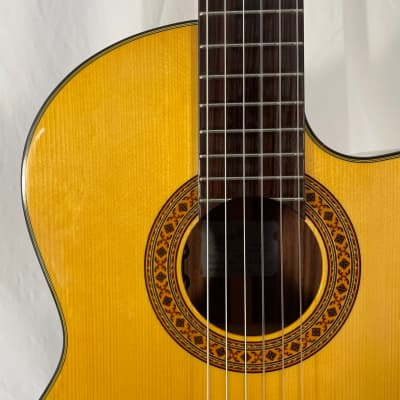 K Yairi CY128 CE (2008) 59618  Nylon string cutaway electro, in a Hiscox case.  Hand Made in Japan. for sale