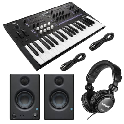 Korg Wavestate Wave Sequencing Synthesizer, Presonus Eris3.5 Monitors, (2) 1/4 Cables, Tascam TH02 Bundle