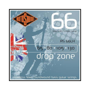 Rotosound RS66LH Drop Zone Long Scale Bass Strings (65-130)