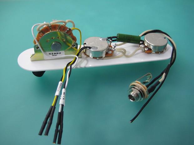 Telecaster '52 Hot Rod Wiring Harness 375K Pots   Reverb on tele bass, tele mirrors, tele body,
