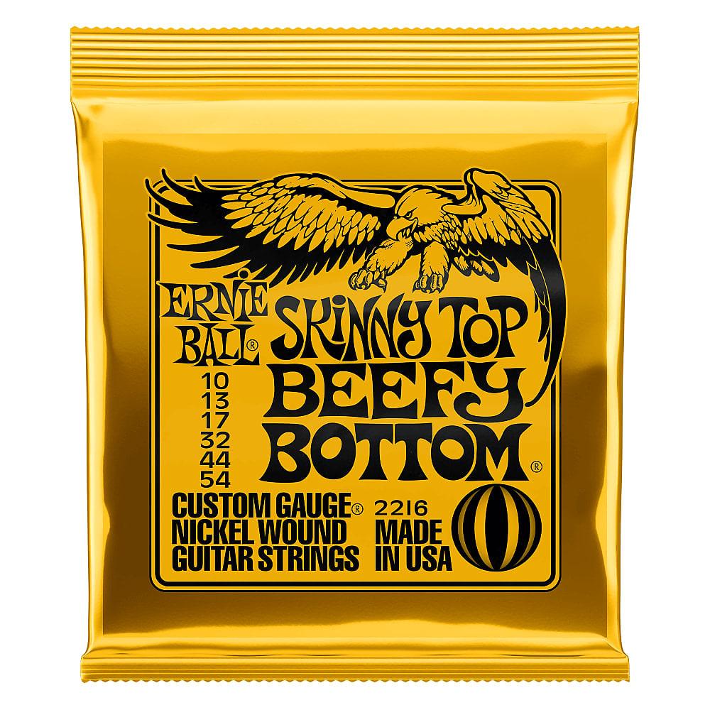 Ernie Ball Skinny Top/Beefy Bottom Nickel Wound Electric Guitar Strings 10-54 G