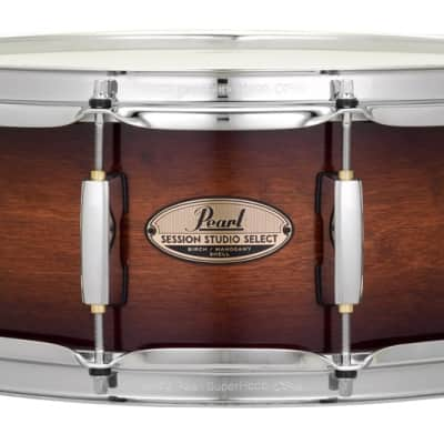 Pearl Session Studio Select 14x5.5 Snare Drum - Gloss Barnwood Brown