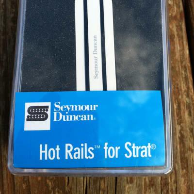 Seymour Duncan SHR-1 Hot Rails Strat Bridge Pickup White Fender Stratocaster NEW