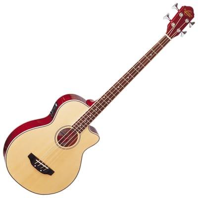 Oscar Schmidt OB100N Acoustic/Electric Bass — Natural for sale